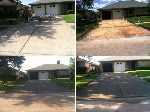 image of repaired concrete driveways