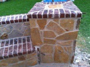 stone and brick columns