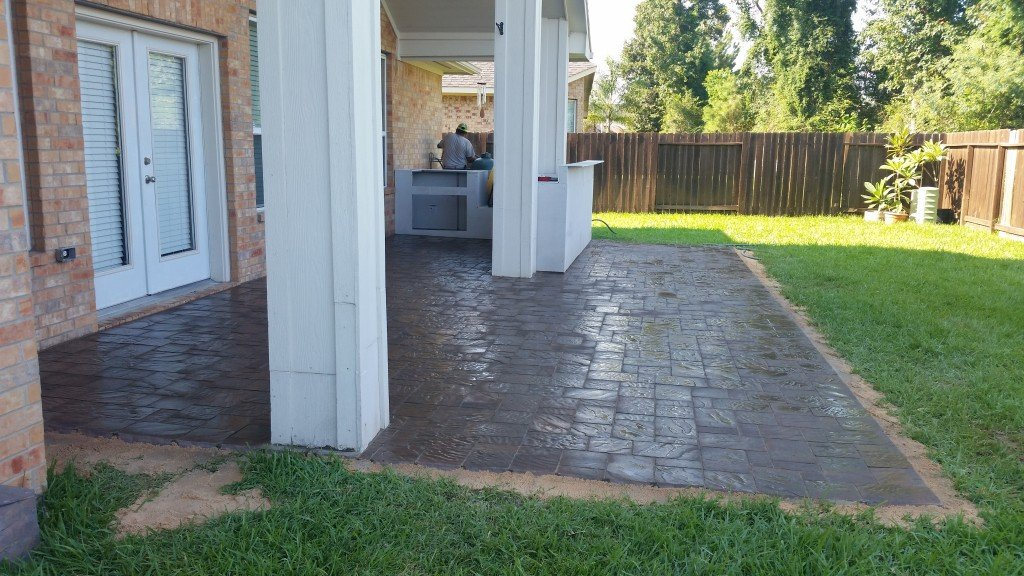 patio pavers by Spring Concrete