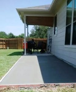 adding onto existing concrete patio