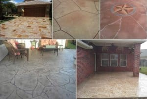 custom patio stamped
