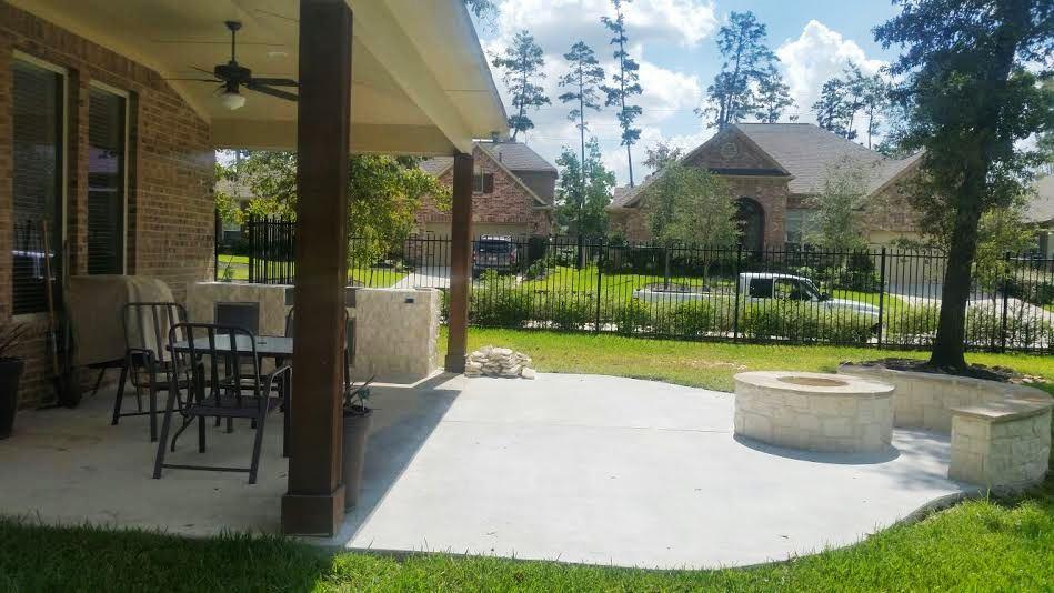 image of backyard concrete patio